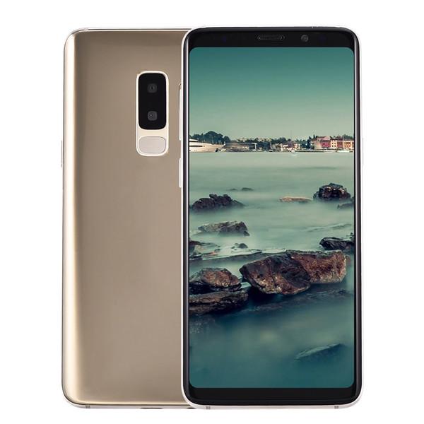 3G WCDMA Goophone S9+ Plus Clone 1GB 8GB Face ID Iris Quad Core MTK6580 Android 7.0 6.2 inch Full Screen Dual Nano Sim Card GPS Smartphone