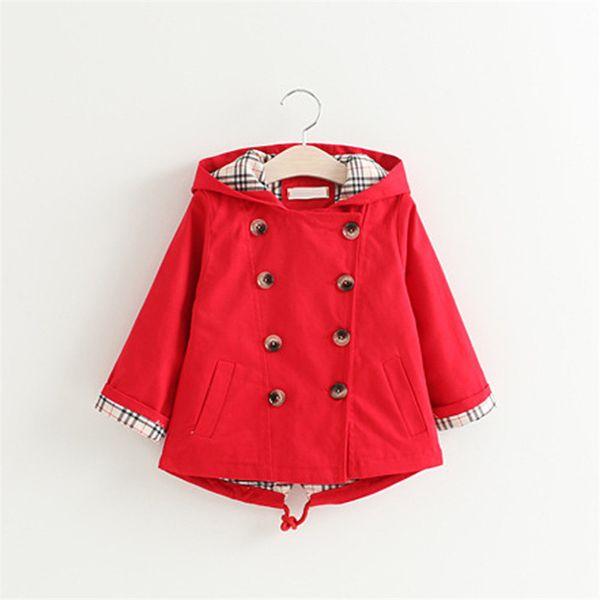 Crianças casacos bonitos da menina dos desenhos animados casacos outerwear sólida roupa estilo coreano para 3-8 anos crianças