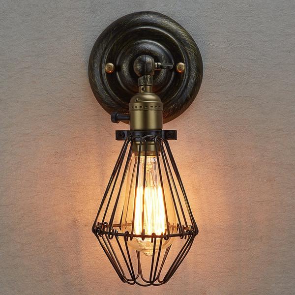 Edison Vintage Wandleuchte Kronleuchter Rustikale Drahtkäfig Hängende Wandleuchte Industriekäfig Licht Schlafzimmer Korridor Wandleuchten