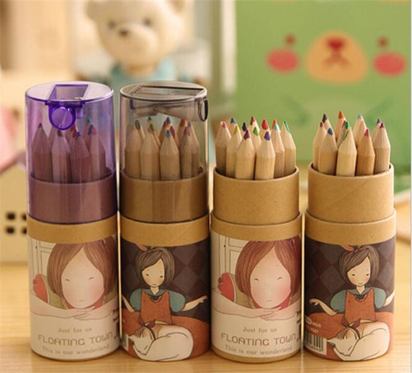 Secret Garden Coloring Pencils Enchanted Forest Painting Pens Colored Pencils Creative Writing Tools 12 colors Colouring Pencils C023