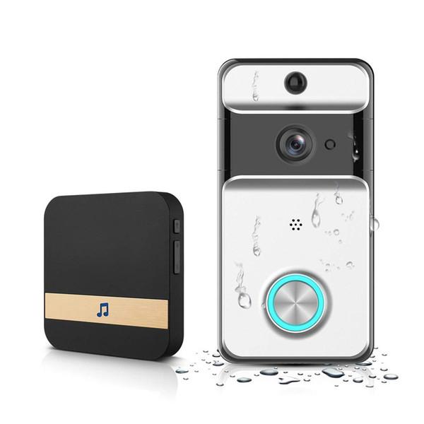 Беспроводной Wi-Fi Видео-Телефон Двери Дверной Звонок Домофон 720 P Водонепроницаемый Smart Video Дверной Звонок Камеры Безопасности С Внутренним Звонком Система Видео-Звонка