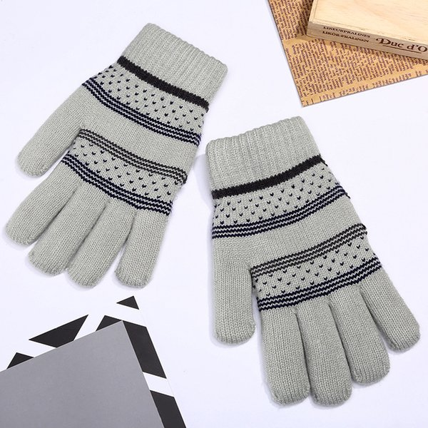 2018 Promotion Adult Leather Gloves Eldiven Autumn And Winter New Knit Finger Mittens Warm Glove Manufacturers Wholesale Unisex