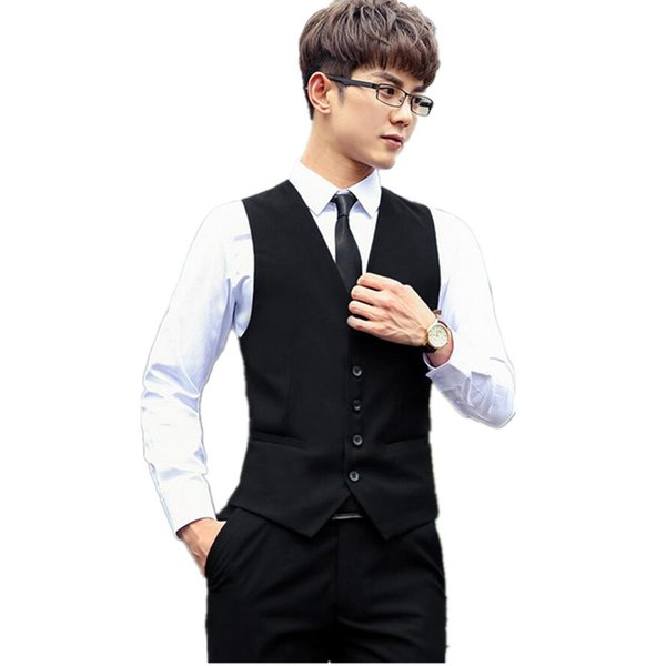 Suit ma3 jia3 Men's suits waistcoat handsome hot sale the groom's best man waistcoat custom single-breasted suit black vest