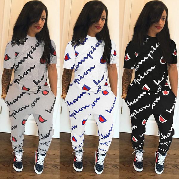 2018 Plus Size Women Tracksuits Ladies T Shirt + Pants 2 Piece Set Tracksuit Sportswear Women Autumn Clothes