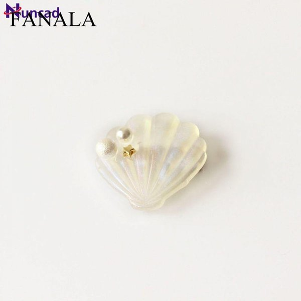 Girls clip Cute For Newest Little Hair Shell Jewelry Women Hair Hairpin 2018 Side Style Sweet Jewelry Star