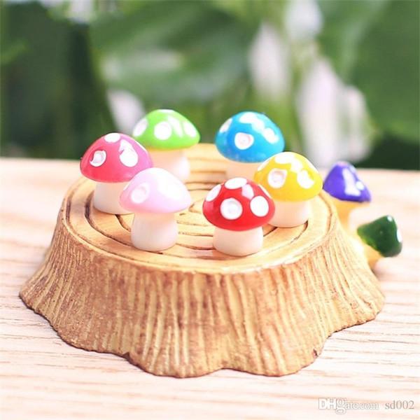 Fai da te Mushroom Resin Artigianato Ornamento Terrario Figurine Creative Fairy Garden Miniature Paesaggio Home Decor Buona Qualità 0 8qj ii