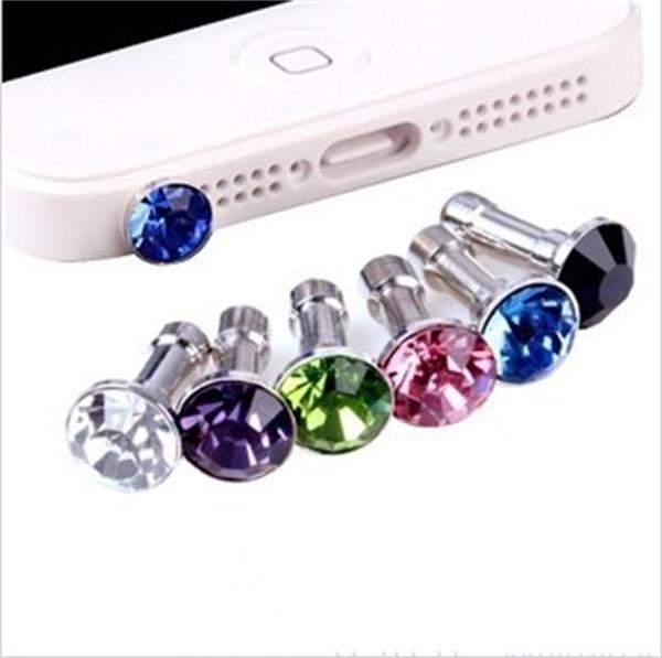 Metal Crystal Diamonds Dust Plug Rhinestone Anti Plugs Headphone For All Series Mobile Phone Gadgets Trumpet Portable 0 1hx jj