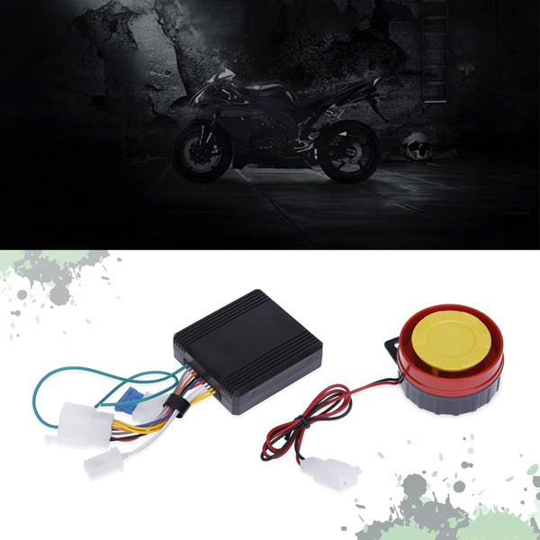 Universal One-way Motorcycle Anti-theft Security Alarm System 12V Double Flash Security Alarm Dual Remote Control Engine Start Alarm