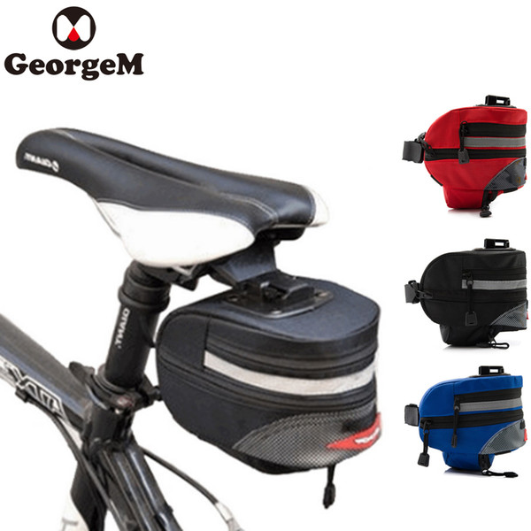 3 Colors Waterproof Cycling Saddle Bag Mountain Bike Bag Reflective Tail Strap Cycling Rear Seatpost Bicycle Tools