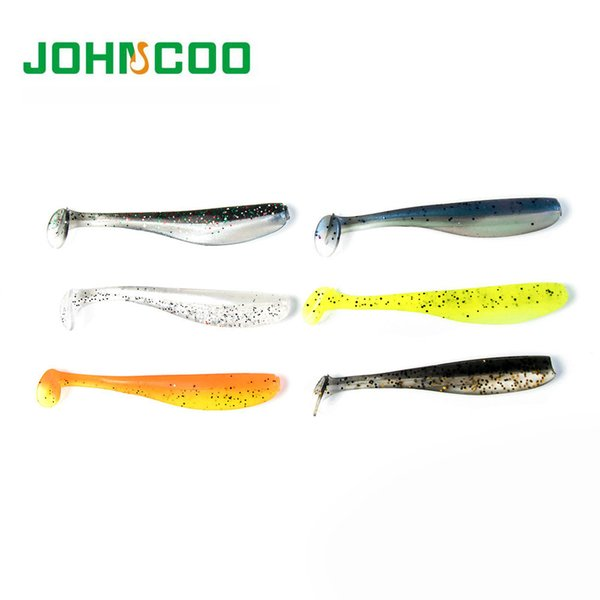 72pcs Double Color Fishing Lure 7cm 1.85g Shad Fishing Soft Lure Silicon Lure Swimming Bait Y1892114