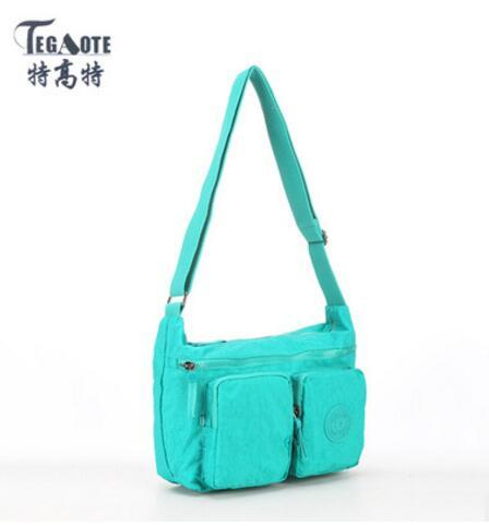 TEGAOTE Luxury Handbags Women Bags Designer Nylon Bolsas Mujer Female Shoulder Bag Solid Crossbody Bags Sac A Main Obag 955