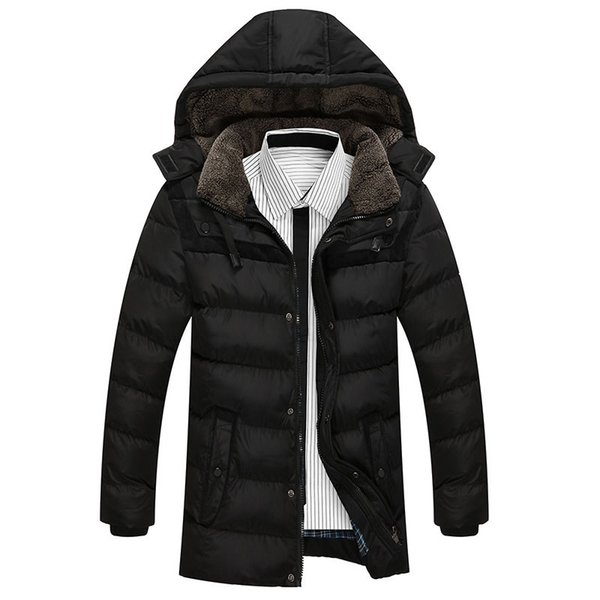 Men Jackets And Coat Winter Snow Warm Thick Hooded Long Down Parkas Brand Fashion Slim Fit Cotton Chaqueta Homme SL-E422