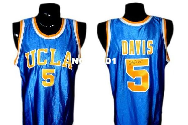 Men #5 UCLA Baron Davis High School College jersey Size S-4XL or custom any name or number