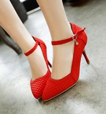 New Arrival Hot Sale Specials Sweet Girl Good Quality Sexy Fine Noble Nightclub Stiletto Buckle Elegant Print Party Heel Shoes EU34-44