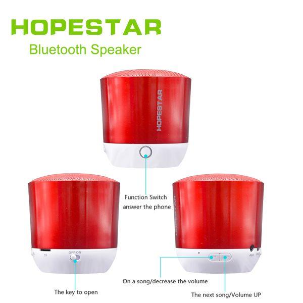 HOPESTAR H9 Mini Altoparlante Bluetooth Portatile basso senza fili Stereo lettore MP3 Supporto USB TF AUX FM handfree per computer del telefono 10 PZ / LOTTO