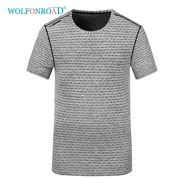 WOLFONROAD Men's Quick Dry T Shirts Camping Running T-shirts Summer Reflective Thin Sport Tee shirts Plus Size Tops L-QZPL-007-1