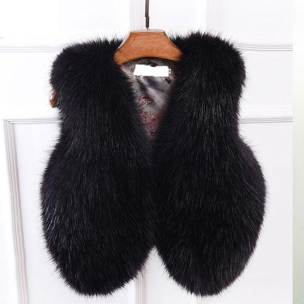 2018 New Fashion Faux Fur Coat Winter Coat Women short Fur Gilet Womens Jacket Vest For Ladies outerwear NW996