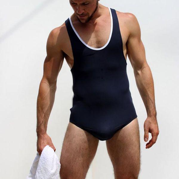 Sexy Modal Männer Kampf Starke Body Trikot Wrestling Singlet Homosexuell Mode Overall Trikot Kostüm Overalls Unterwäsche Unterhemden
