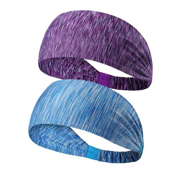 Under Sweat Wicking Stretchy Athletic Bandana Headscarf Yoga Headband Head Wrap Best for Sports or Fashion Exercise