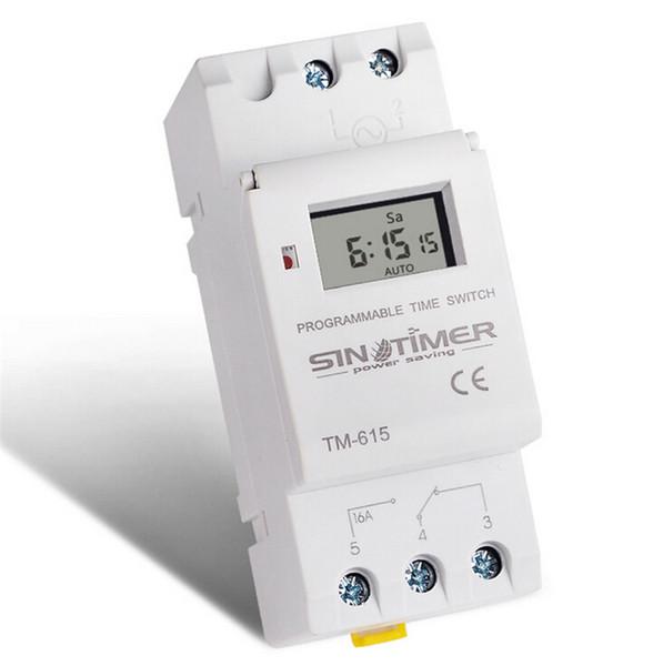 SINOTIMER 220 V 110 V 24 V 12 V AC Timer Switch LCD Digital Programable Semanal Interruptor de Tiempo de Energía Interruptor de Tiempo de Relé