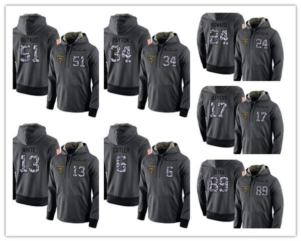 buy popular bd67b 9e4bf 2018 Chicago Bears #52 Khalil Mack Hoodie 10 Mitchell Trubisky 54 Brian  Urlacher 34 Walter Payton 24 Howard 29 Tarik Cohen Football Sweatshirt From  ...