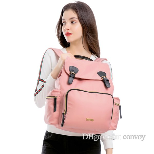 New LANDUO Mommy Backpacks Nylon Nappy Bags Mother Maternity Diaper Backpack with mat Large Volume Outdoor Travel Bags Organizer MPB39