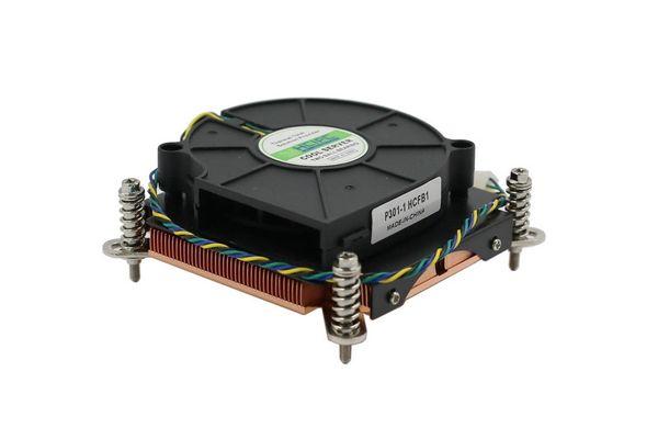 75*75 * 10мм вентилятор CPU P301-1 HCFB1, LGA1366 двойной шарикоподшипник 4pin тонкий 1U Медный серверный радиатор 12V~0.28 A