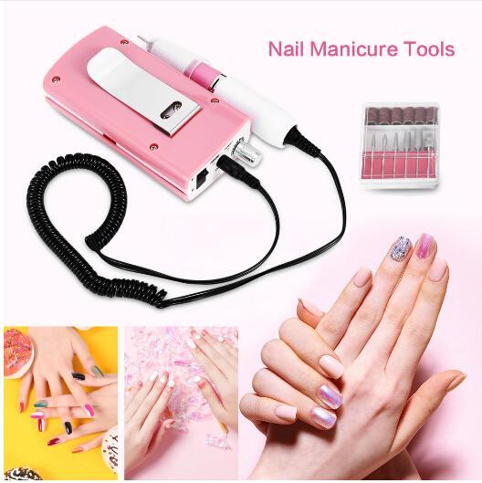 Electric Nail Drill Manicure Machine 18W 30000RPM Acrylic Nail File Drill Manicure Pedicure Kit Rechargeable Nail Art Equipment