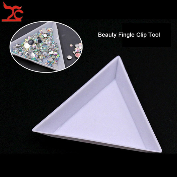 best selling 10Pcs White Plastic Triangle Sorting Tray Gemstone Collection Storage Case Beads Crystal Nail Comestic Art Tool Tray Jewelry box 7*2.5 cm