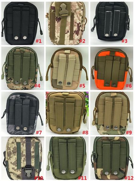 Universal Ao Ar Livre Tactical Coldre Molle Cintura Hip Esporte Bag Carteira Caso Bolsa Do Telefone Caso com Zíper para iPhone / LG / HTC / Samsung MK578