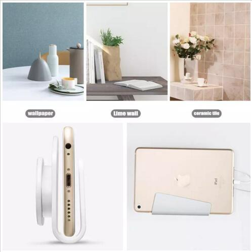 Mobile Phone Wall Charger Hanging Holder Stand Adhesive Bracket Support Charge Hanger Rack Shelf Cell Phone Hook with Retail Package