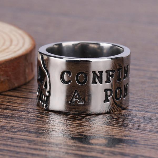 Vintage popolare americano ed Europa stile massonico due colori uomini anello forma rotonda in acciaio inox gioielli unici