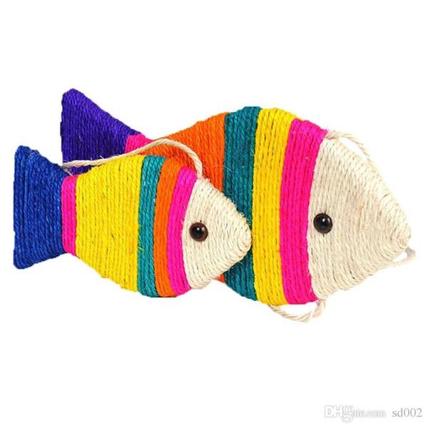 Balık Şekli Kedi Scratch Kurulu Nane Sisal Simülasyon Balıklar Yapay Güzel Karikatür Değirmeni Plaka Evcil Oyuncaklar 9 5jn2 gg