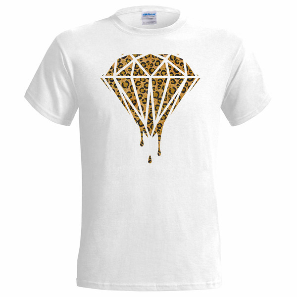 Dripping Leopard Print Diamond Design Camiseta para hombre - Yolo Wholesale Discount High Fresh