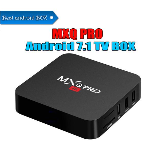 En çok satan MXQ Pro 4 K Android 7.1 TV Kutusu Rockchip RK3229 Dört Çekirdekli Streaming Medya Oynatıcı desteği 3D IPTV HDMI örnek OEM