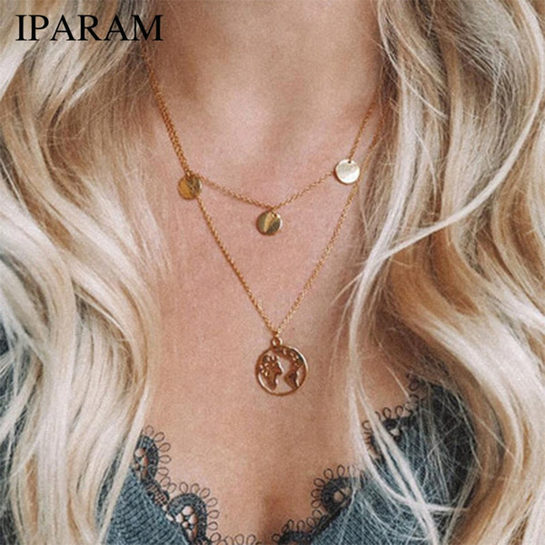 IPARAM New Hot Sale  Necklace Earth Day Gift For Best Friends WanderPendants Personalized Fashion Outdoor Necklace
