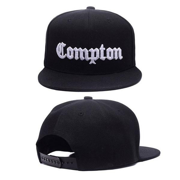 12 Colors Mens Compton Snapback Hats Bone Gorras Swag LA Snapbacks Compton Hip Hop Baseball Cap For Adult