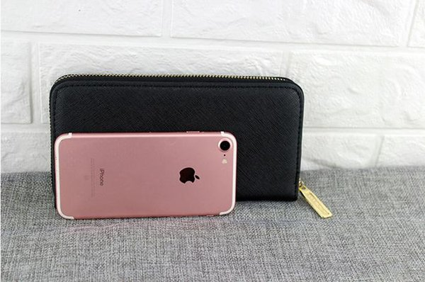 Low price special sells new fashionable lady purse in the long model mobile phone bag. Cross grain PU leather many card bag.