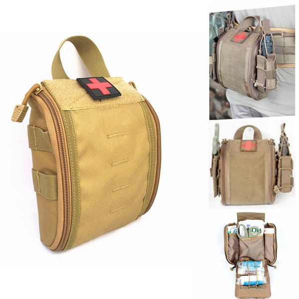 1000D Nylon MOLLE Tactical Rip Away EMT Medical First Aid Pouch EDC Utility Tools Bag for Vest or Belt