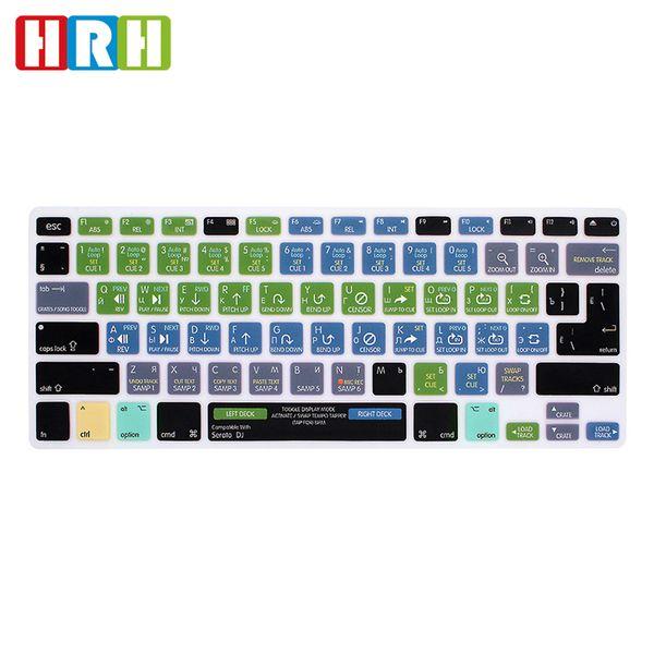 "HRH Serato DJ Russian Functional Hot Keys Silicone Keyboard Cover Skin for MacBook Air Pro Retina 13""15""EU/US Keyboard Protector"