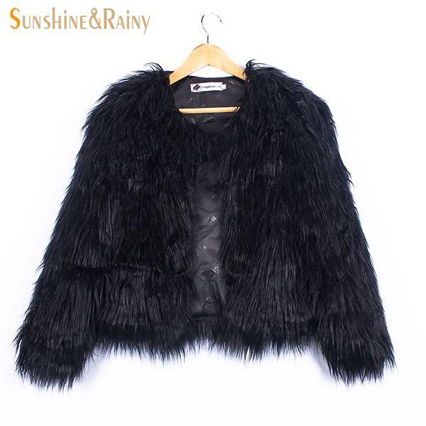 Ins eleganti giacche di pelliccia per le ragazze Autunno Bambini Giacche e cappotti cascata Baby Girl Faux Fur Coat Bambini Capispalla 2-10Y