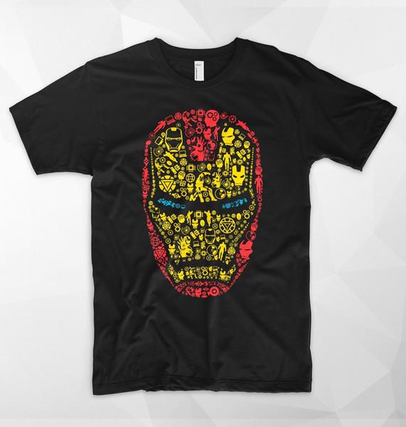 Details zu Iron Man Mask T Shirt Logo Head Tony Stark Marvel Superhero Avengers Spiderman Funny
