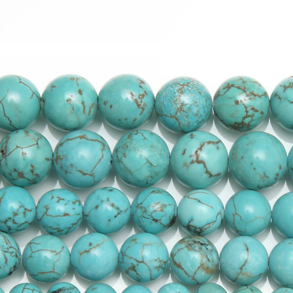 """8mm New Natural Lt Blue Howlite Turquoises Round Loose Beads 15"""" Strand 4 6 8 10 12 MM Pick Size For Jewelry"""