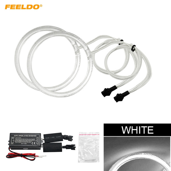 FEELDO 2pcs/Set Car CCFL Angel Eyes Light Halo Rings Kits Light For Volvo C30 2008 Headlight DRL #2633