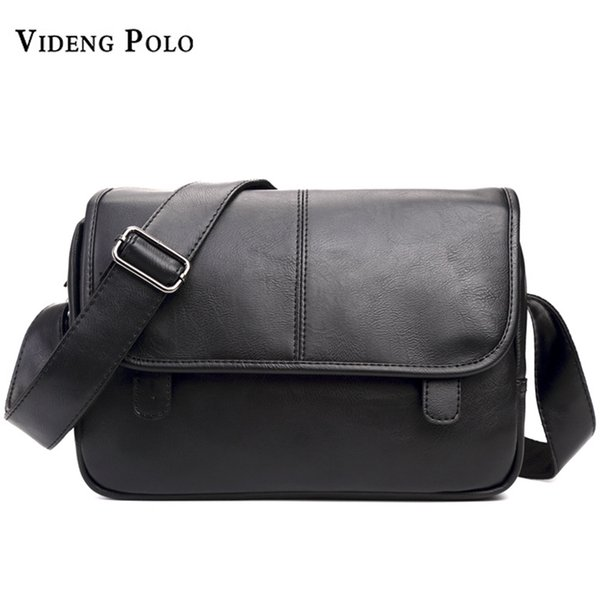 VIDENG POLO 2017 Famous Brand Man Messenger Bag Leather Fashion Male Shoulder Bags Vintage Business Men's Casual Crossbody Bags