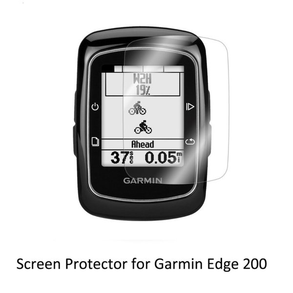 3* Clear LCD PET Film Anti-Scratch Screen Protector Cover for Cycling Training GPS Garmin Edge 200 Edge200