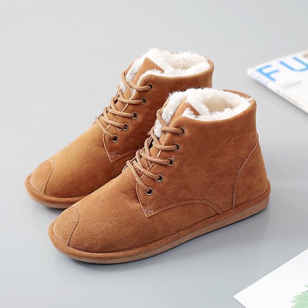 Nuevas botas de invierno. Botas para mujeres, algodón acolchado para mujeres y botas de estudiante engrosadas.
