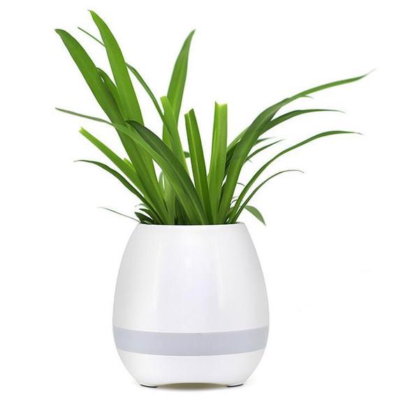 2pc Garden Mini Flower Pots Night Light Smart Touch Planters & Pots Lamp Rechargeable Wireless Bluetooth Planter Best Gift For Kids wn252B