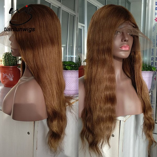 150% density peruvian full lace human hair wig #7 color, cheap price natural looking indian women hair wig lace front wholesale