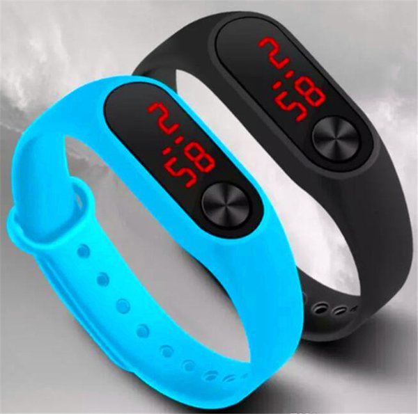Led hand ring second generation silica gel electronic wristwatch Suitable for people of all ages Ten color optional Summer profusion